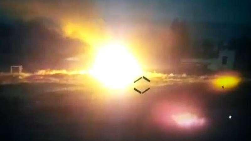 Опубліковано відео, як безпілотник знищив укріплену позицію окупантів