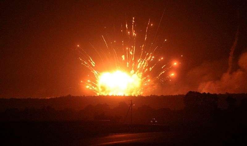 В Україні горять склади з боєприпасами, населення евакуюють