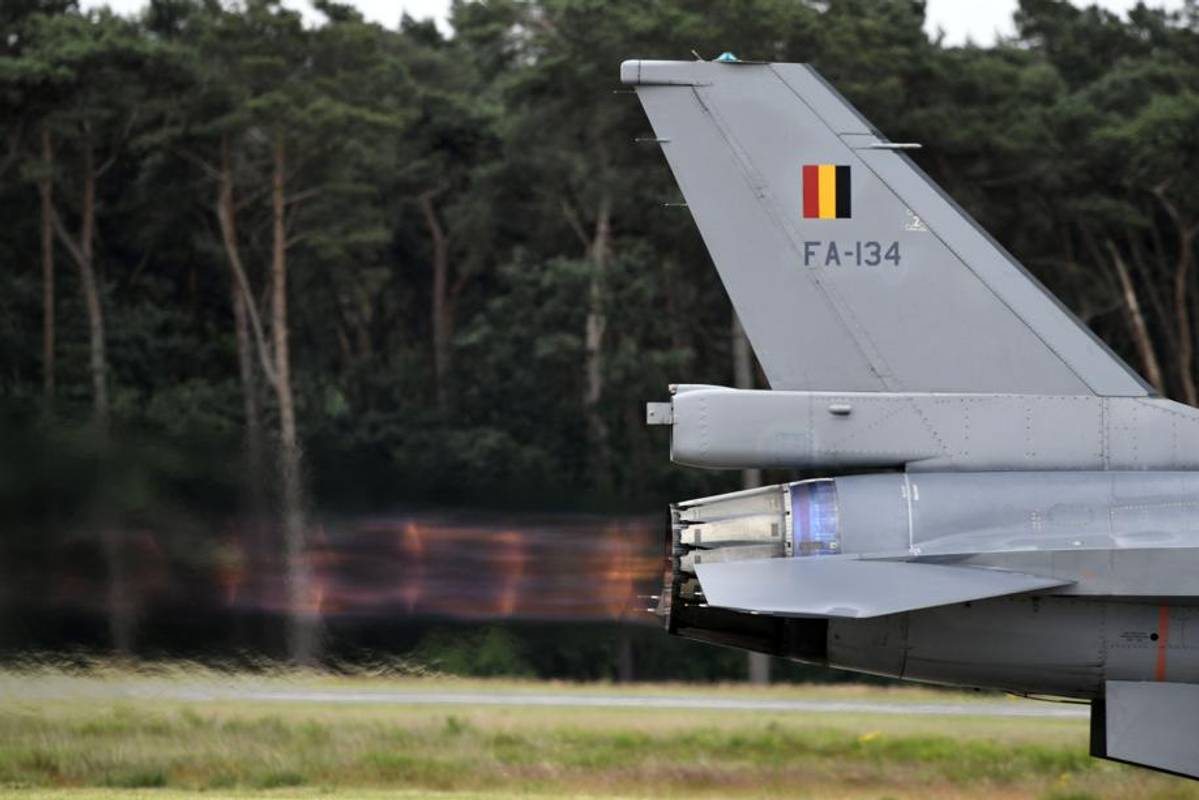 У Бельгії вибухнув літак-винищувач (фото)