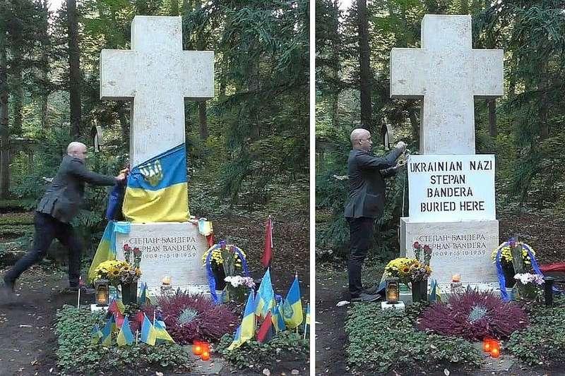 Скандальний журналіст Грем Філіпс поглумився над могилою Степана Бандери
