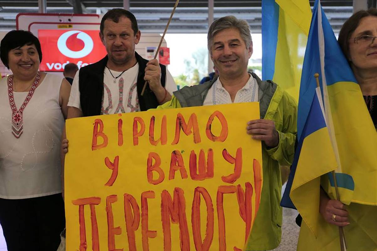 Ігри нескорених 2018: як українських спортсменів зустрічали в аеропорту Сіднея (фоторепортаж)