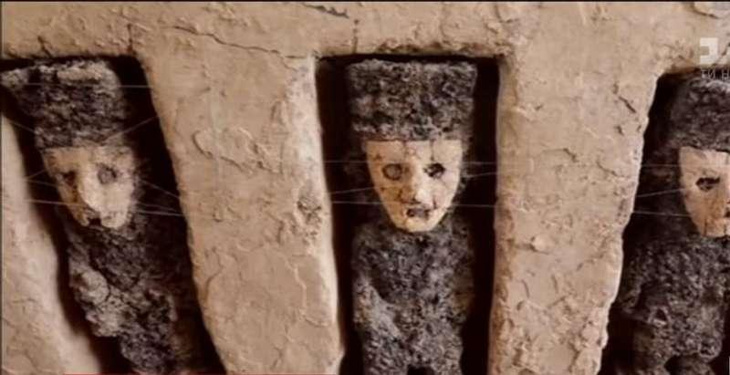 Біля язичницького храму відкопали скульптури давніх правителів Перу