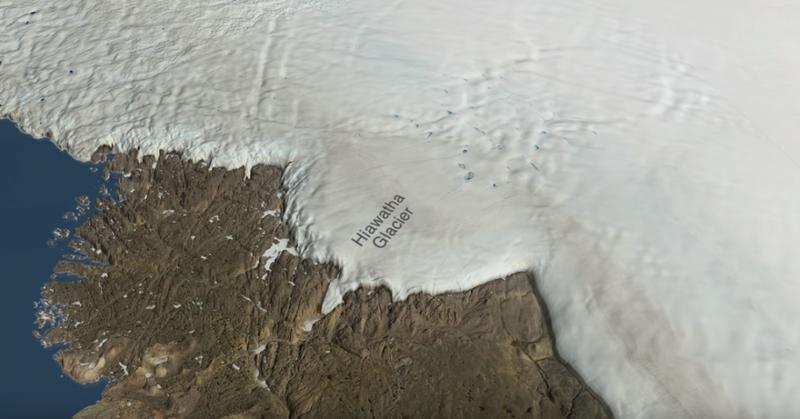 Під кригою Гренландії виявили велетенським кратер від метеорита (відео)