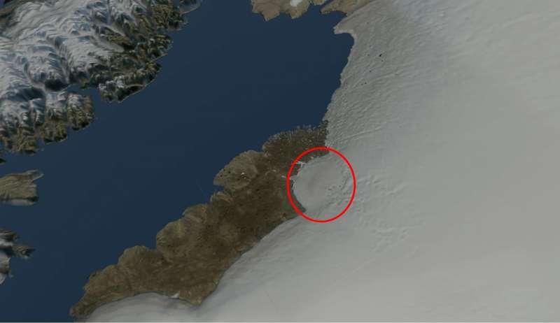 Метеоритний кратер, площа якого більша за Париж, виявилипід льодовим щитом