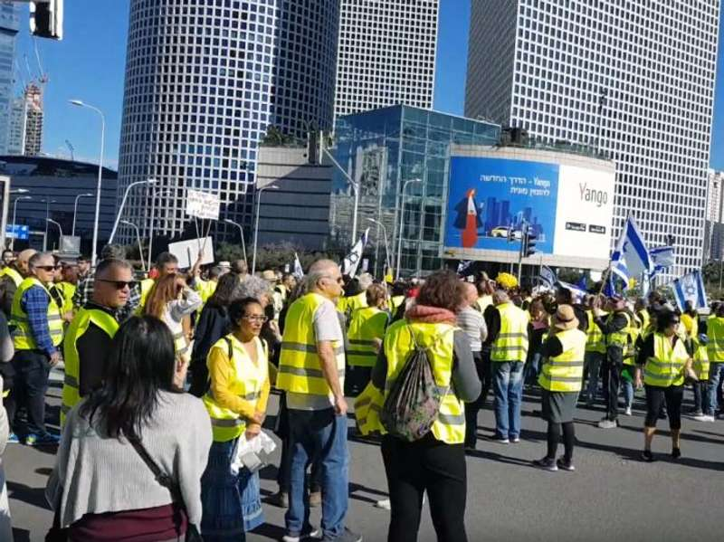 В Ізраїлі розпочалися протести жовтих жилетів