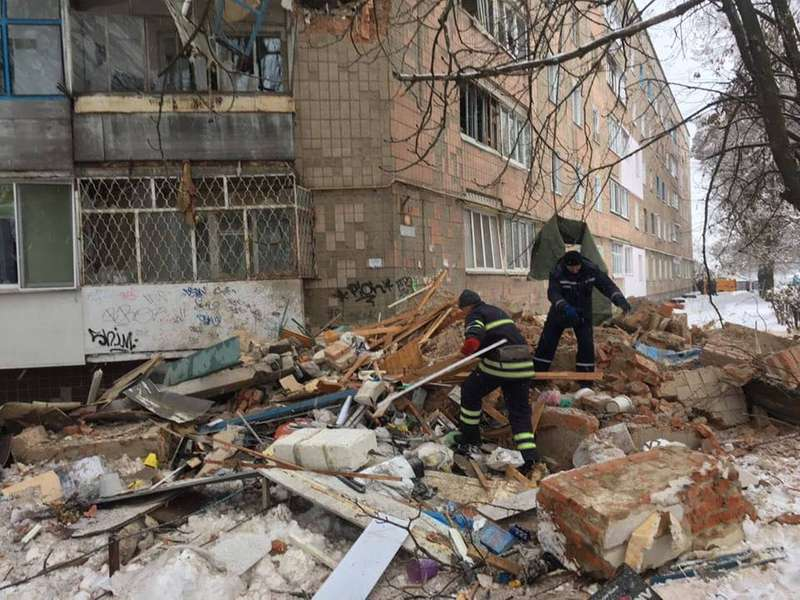 На Київщині в результаті вибуху обвалилася п'ятиповерхівка