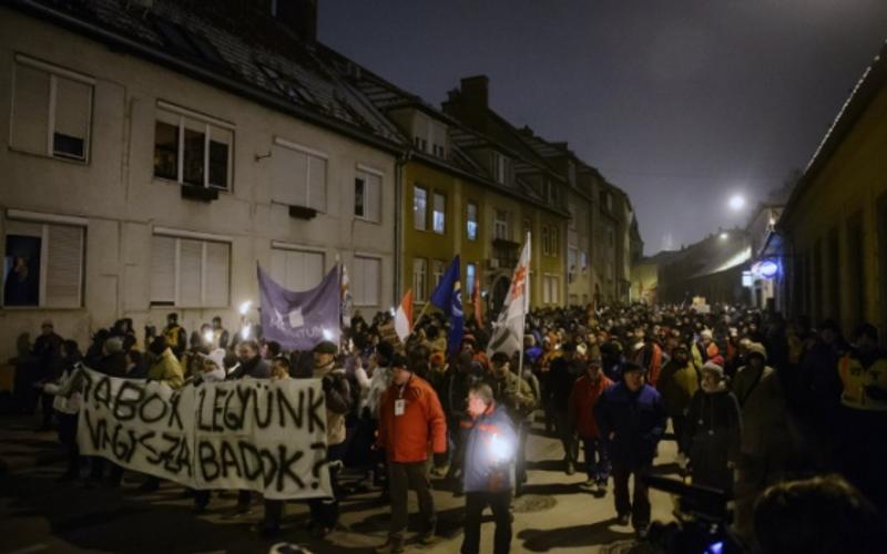 Закон про рабство: близько 5 тисяч людей взяли участь в антиурядових протестах в Будапешті