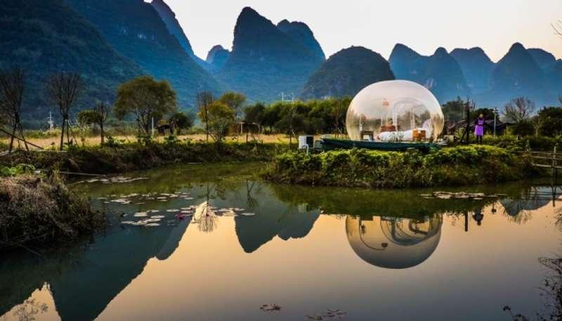 Китайці пропонують туристам котеджі-бульбашки