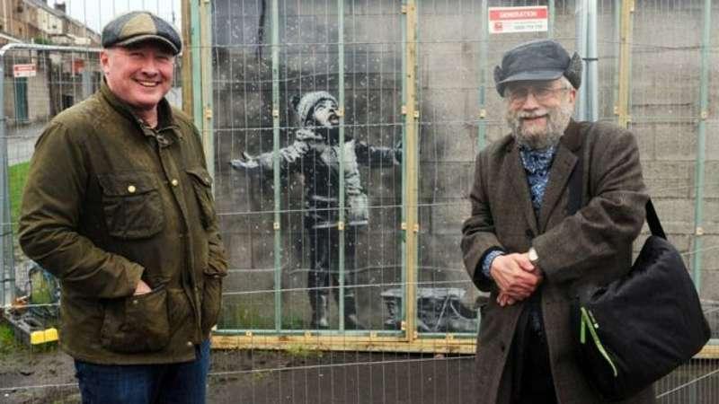 Графіті Бенксі на гаражі у валійця продали за понад 100 тисяч фунтів