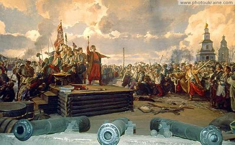 Частина діорами Військова рада на Січі . Автор М. В. Овечкін