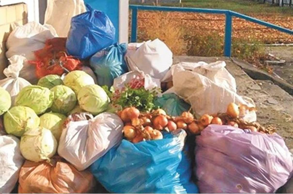 Кожної осені в селі Жари збирають продукти для харчування хворих.